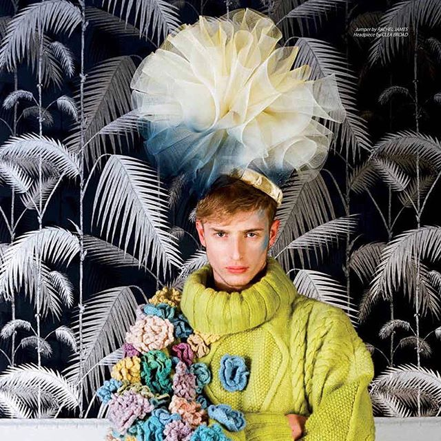 My Luna headpiece in SS15 issue of Eclectic magazine ✨#milliner #millinery #fashion #headpiece #luna #editorial ✨