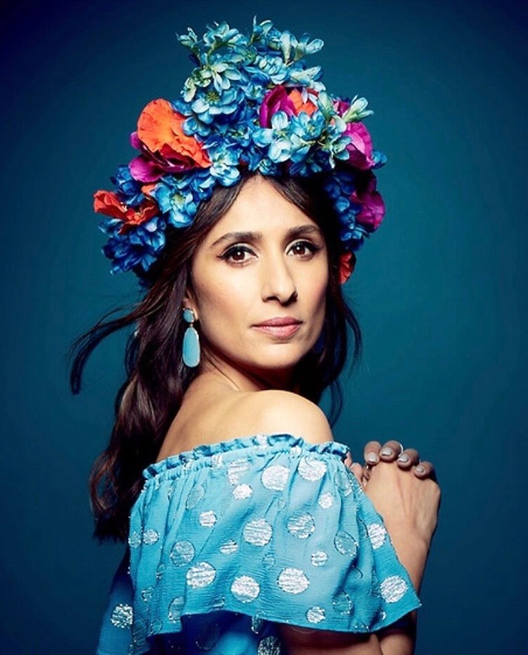 Anita Rani wearing my flower crown