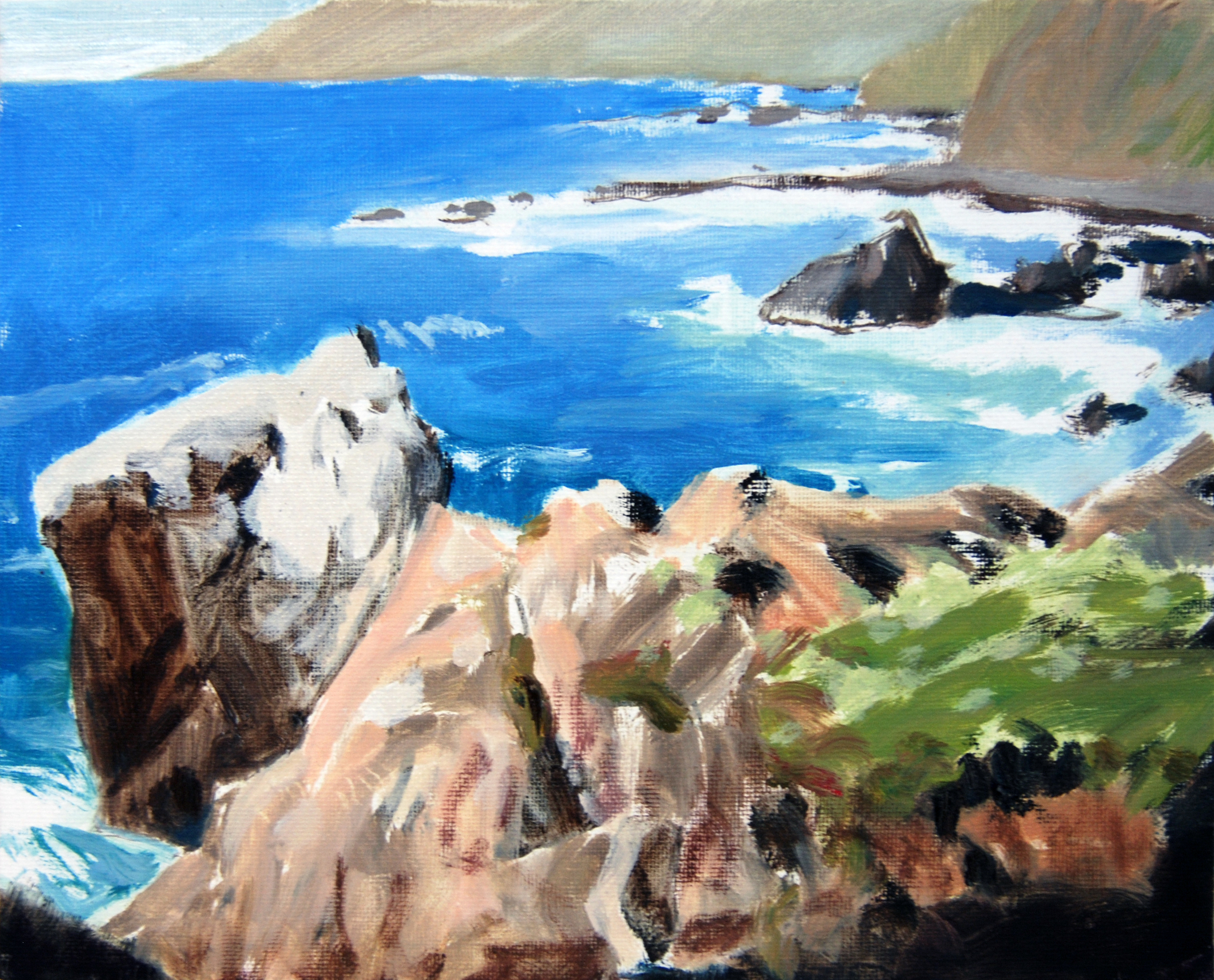 Big Sur Coast , 8 x 10 in.  Oil on canvas. Available for purchase. (2016)