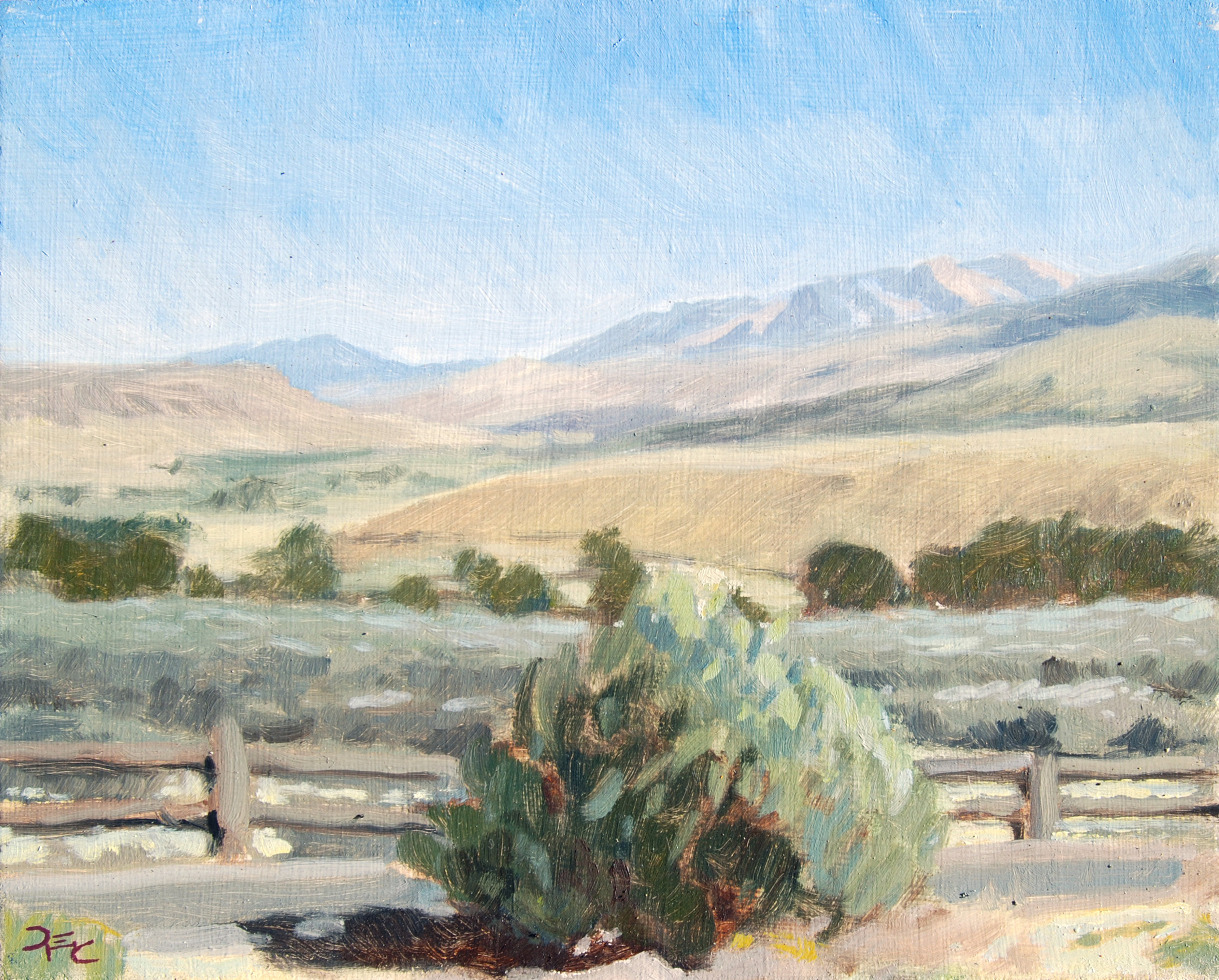 Aldrich Mountains,  8 x 10 in.  Oil on panel. Private collection. (2016)