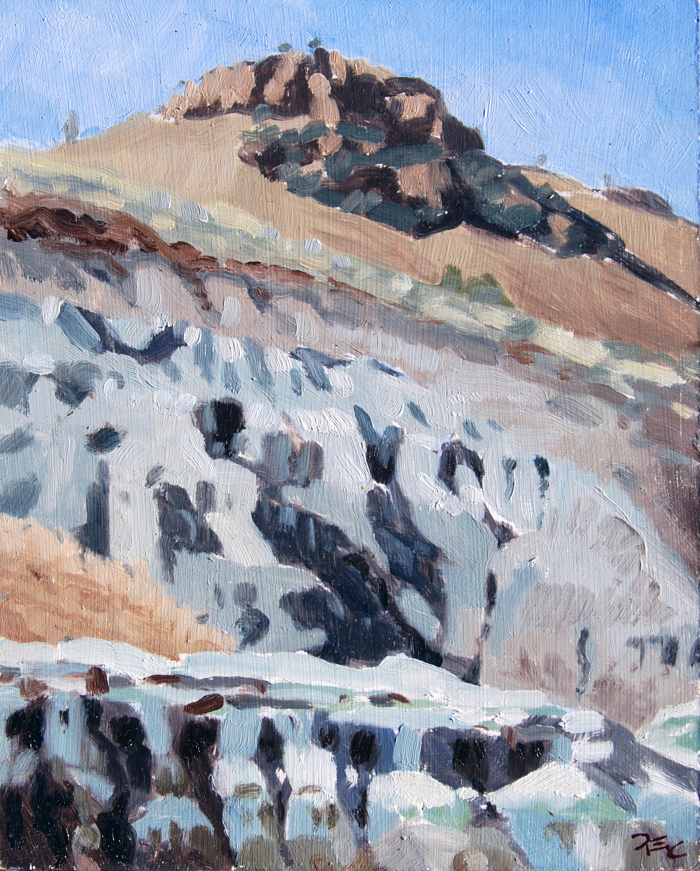 Blue Basin,  10 x 8 in.  Oil on panel. Private collection. (2016)