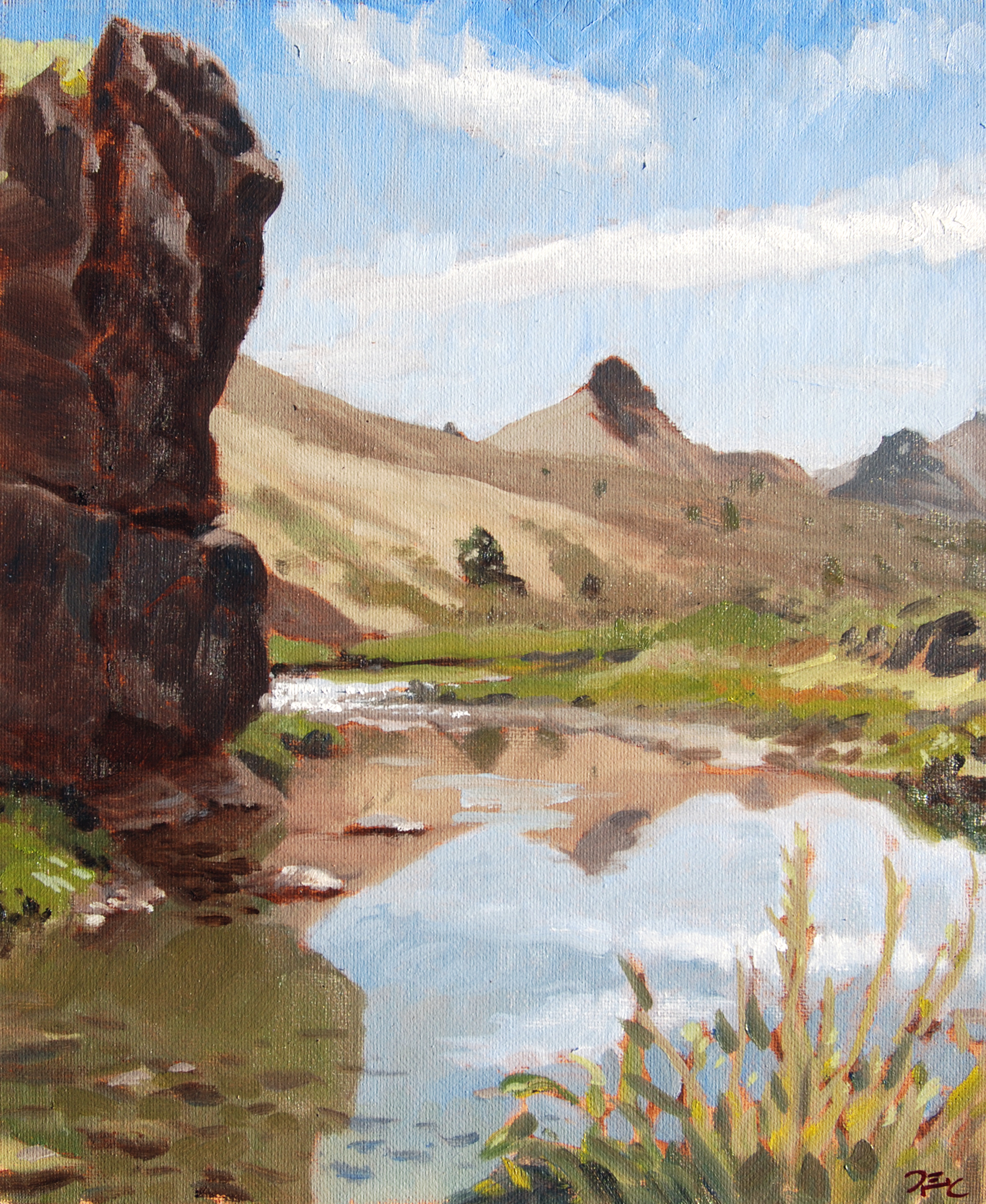 John Day River,  14 x 11 in.  Oil on panel. Available for purchase. (2016)