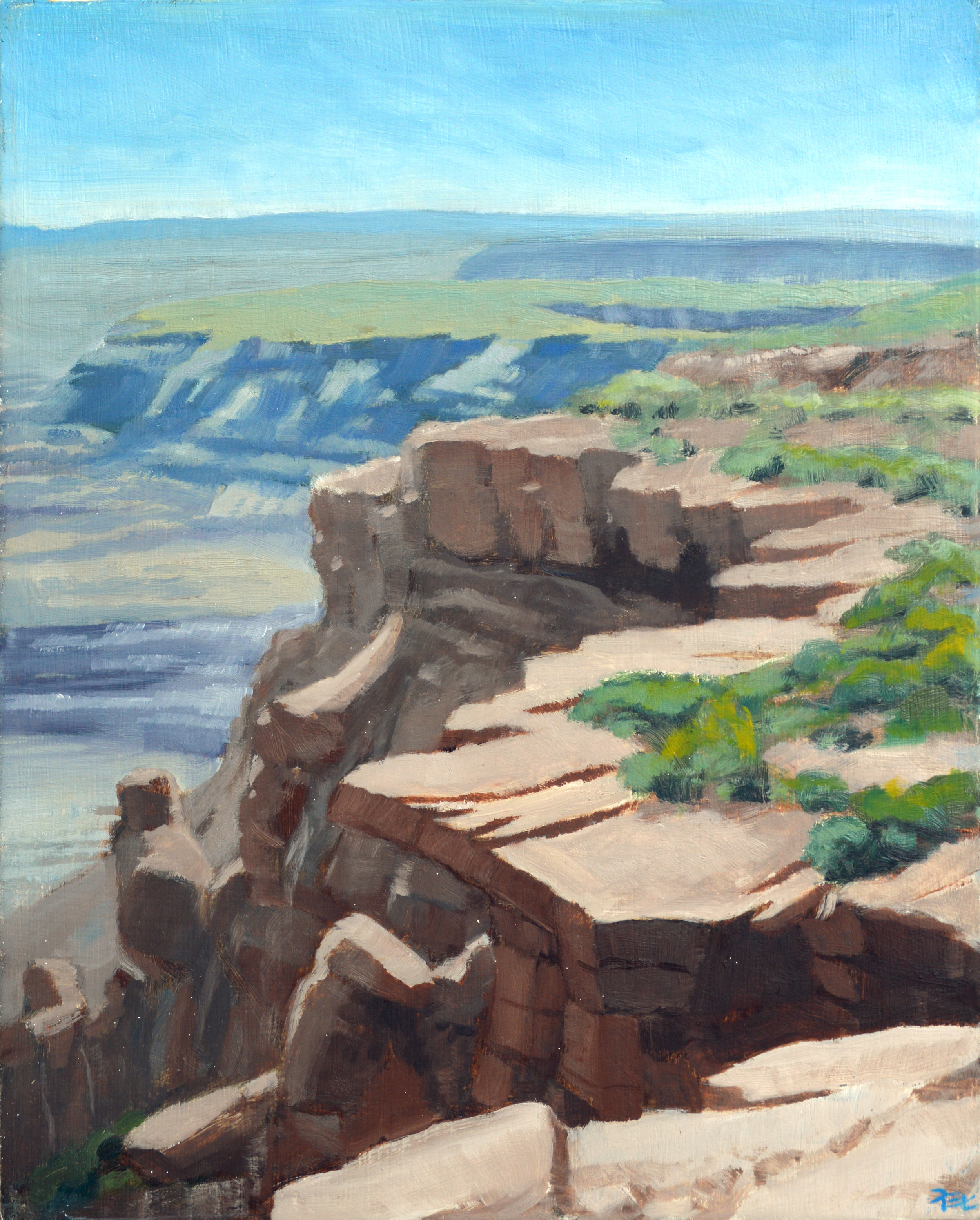 Billings Gap Overlook,  10 x 8 in.  Oil on panel. Private collection. (2017)