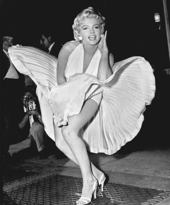Marilyn Monroe,  The Seven Year Itch  in September 1954 via  Wikipedia