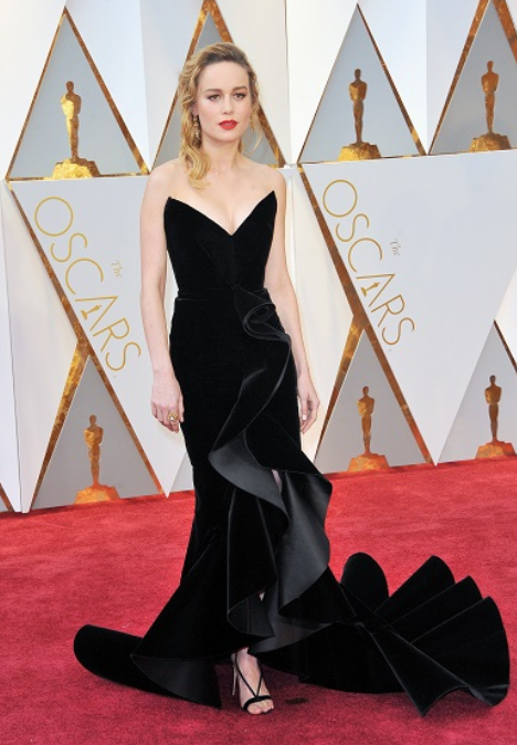 Brie Larson at the 2018 Oscars via Sophisticated Allure