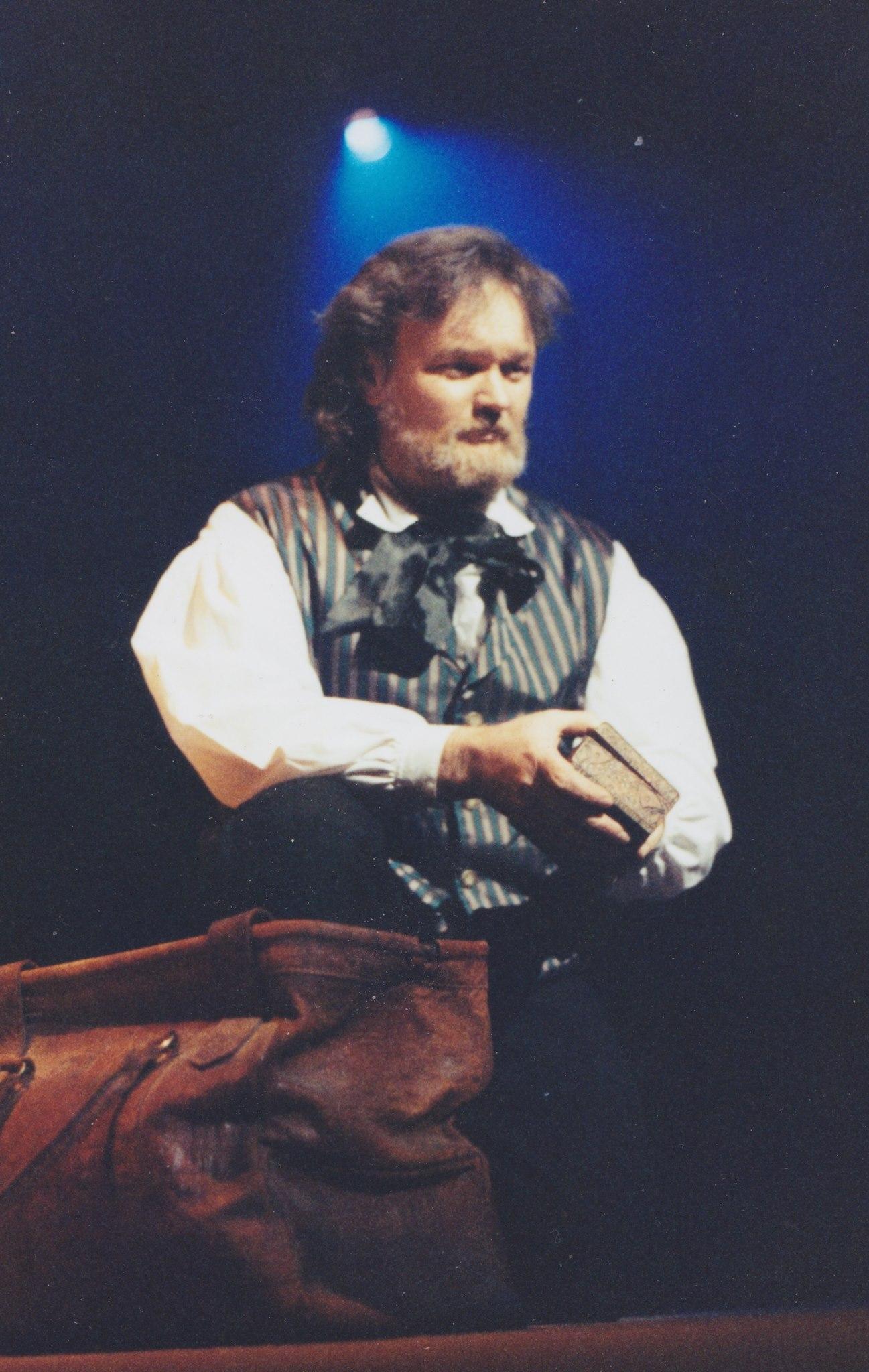 Leigh McRae performing in the the musical Les Misérables, circa 1994.