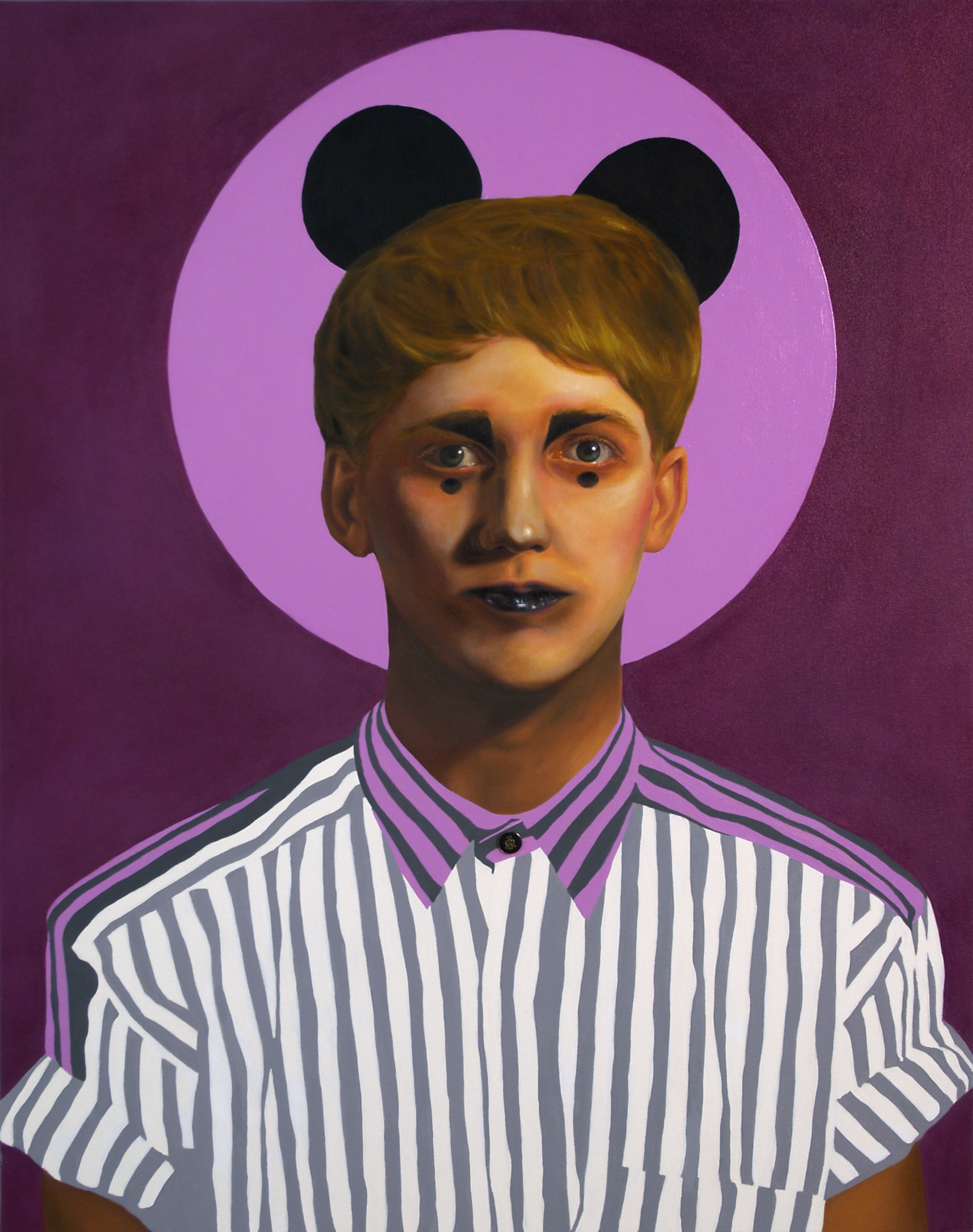Ruby Chew, Tom, Oil, Enamel and Button on Canvas, 122 x 91 cm, 2010