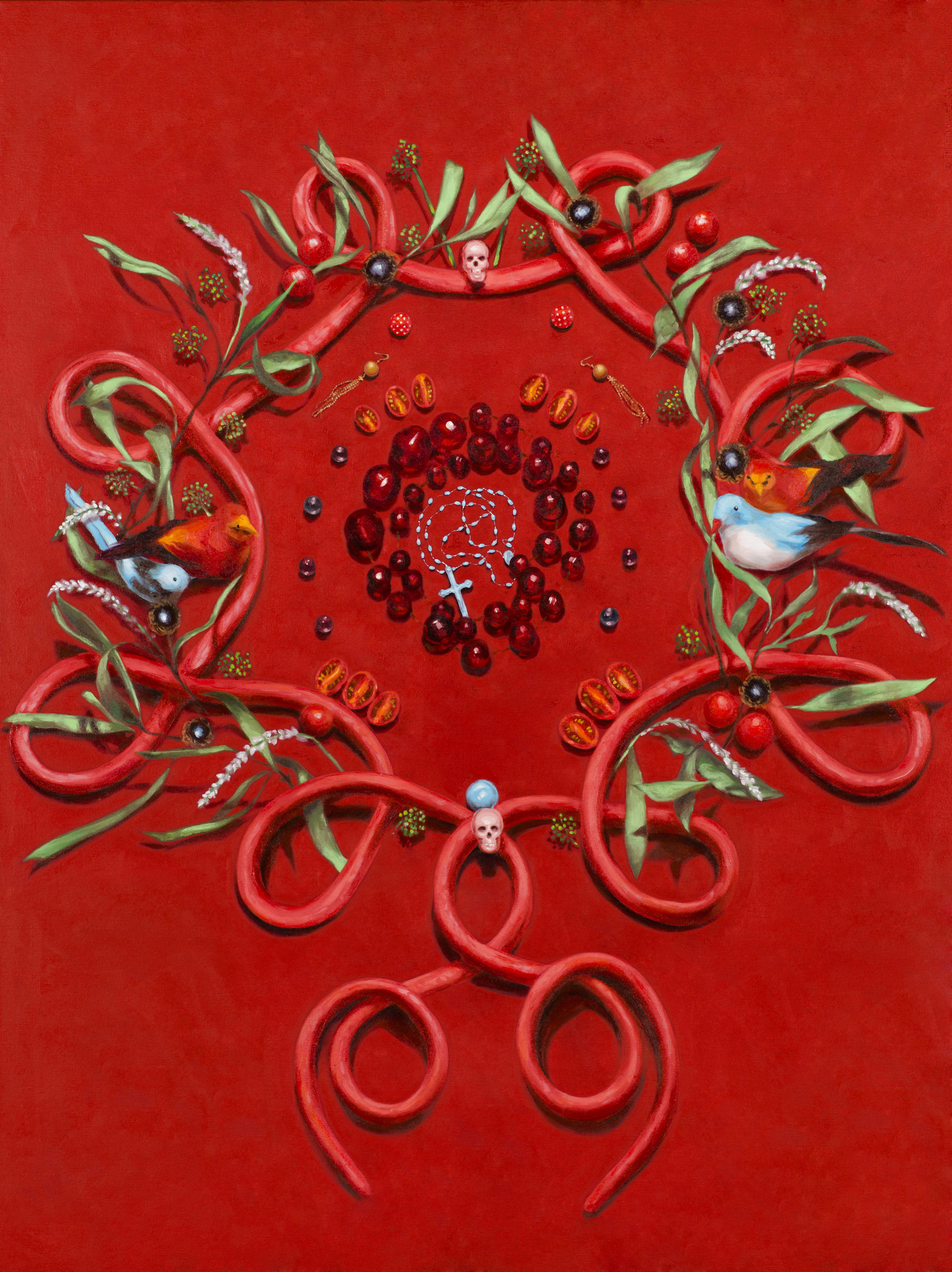 Ruby Chew, Australian Mandala, Oil and Acrylic on Canvas, 122 x 91 cm, 2014