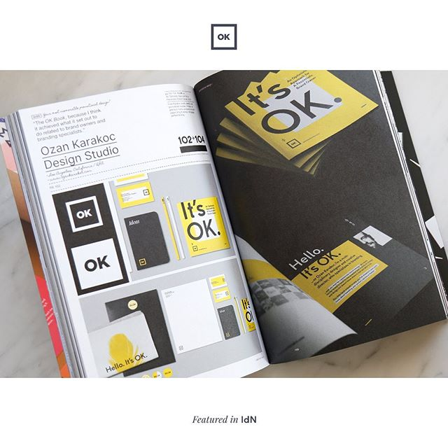 Getting featured in a magazine is always great, but getting featured in your all time favorite magazine is priceless. Thank you #IdN for your valuable invitation and for featuring the It's OK Book on your pages. 🙏🙃 . #itsok #itsokbook #promotionaldesign #selfpromotion #idn #idnmagazine #designmagazine #graphicdesign #branding #branddesign #print #printdesign #booklet #initials#ozankarakoc #ozankarakocdesignstudio