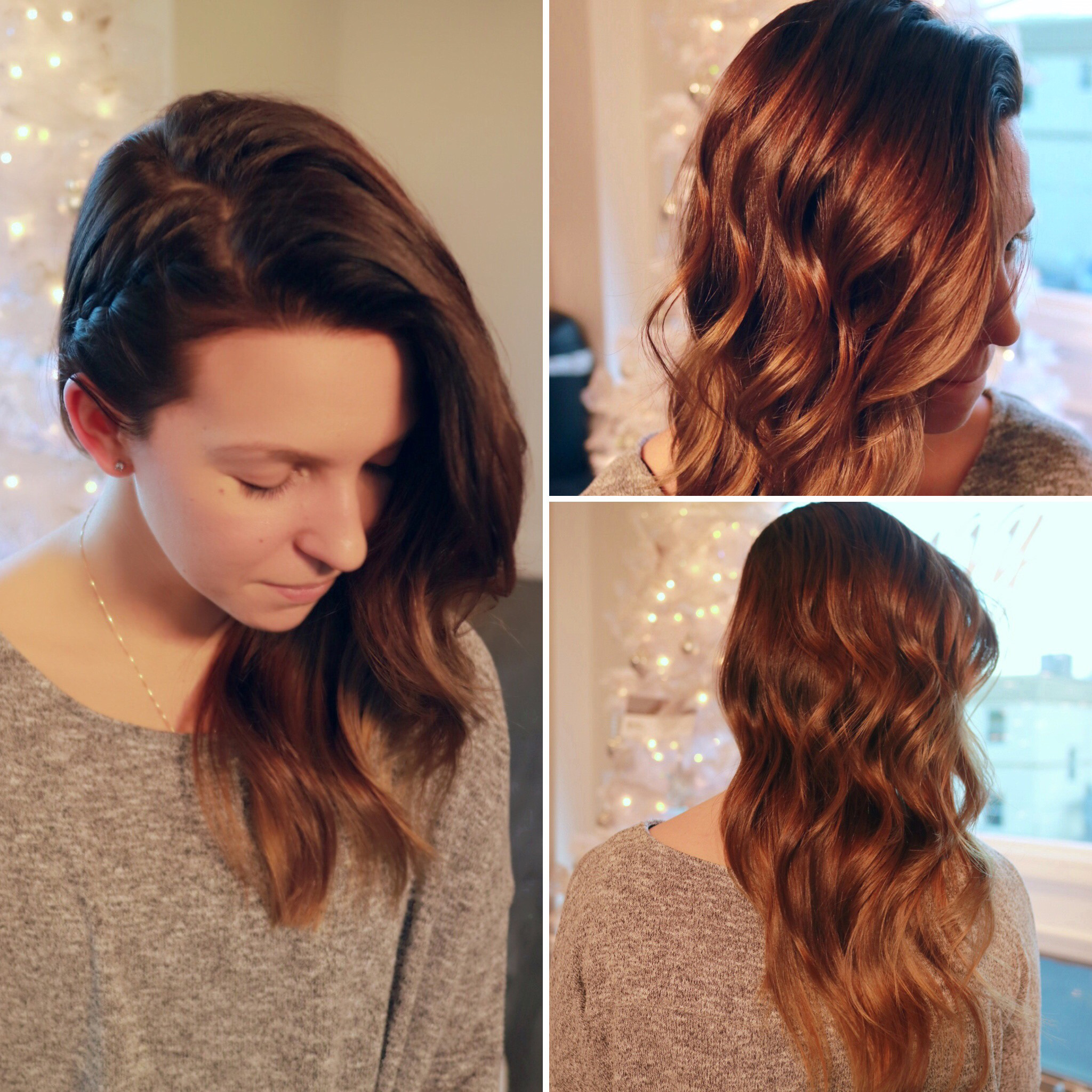 Beachy waves and braid are everything you need for Christmas at the Jersey Shore | Styled by Katelynn
