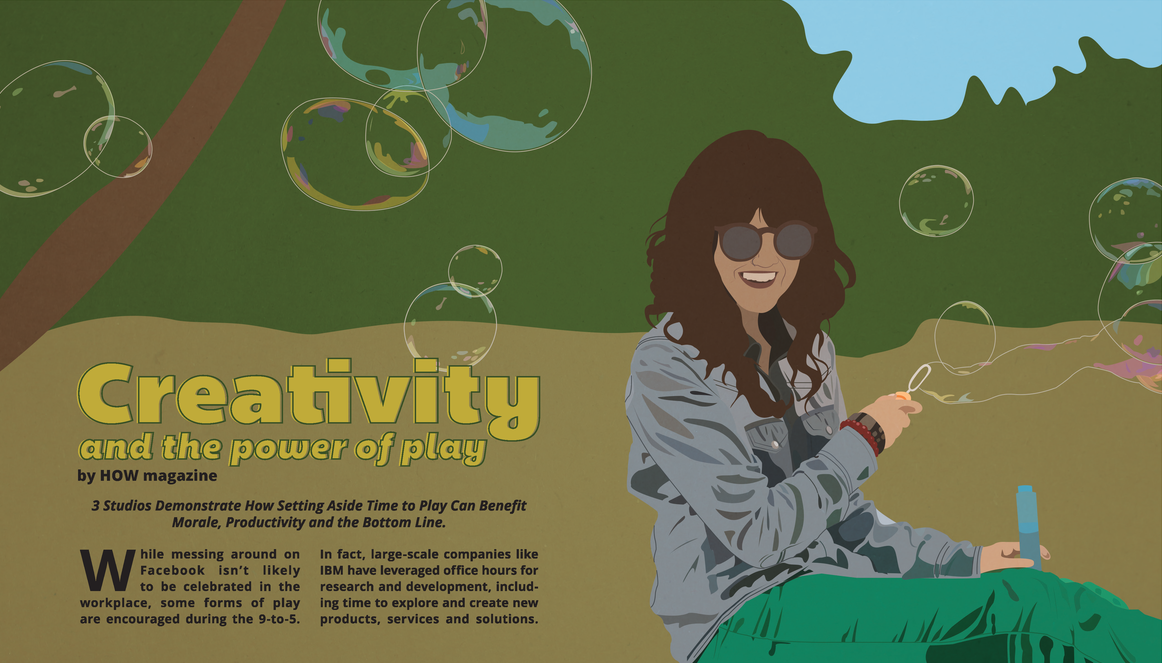 Vector self portrait turned magazine spread for a self-directed project.