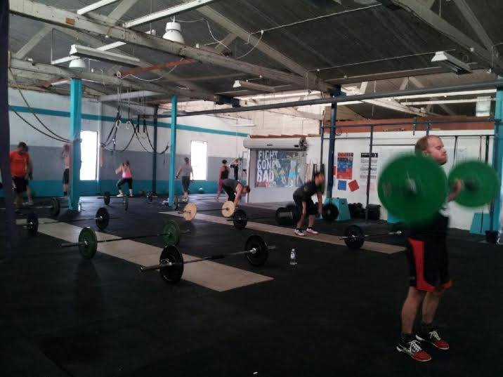 Monday's class hitting Power Cleans & Wall Balls whilst enjoying our crazy Mt Gambier weather!!