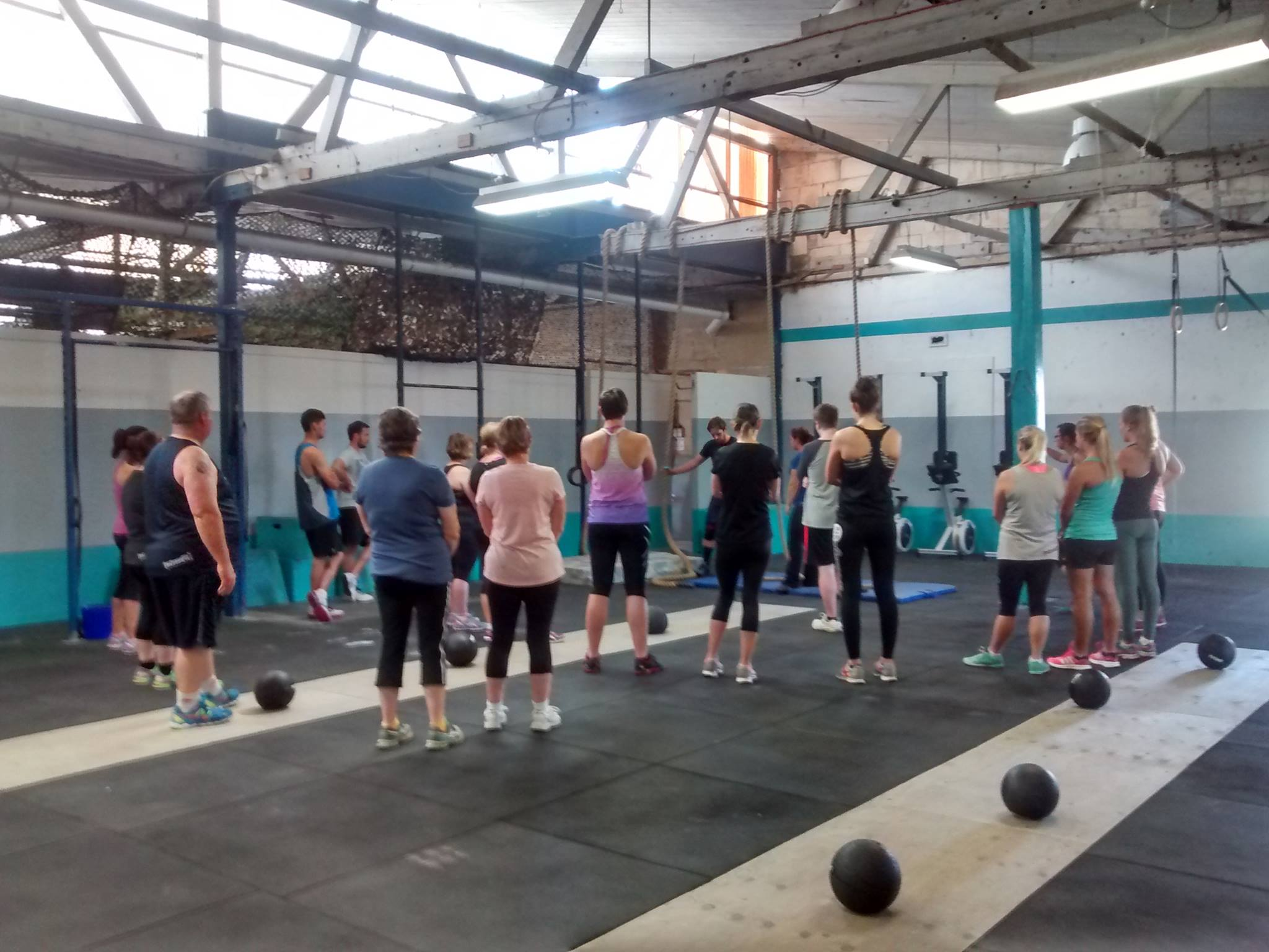 Our packed Tryout Class on Saturday!