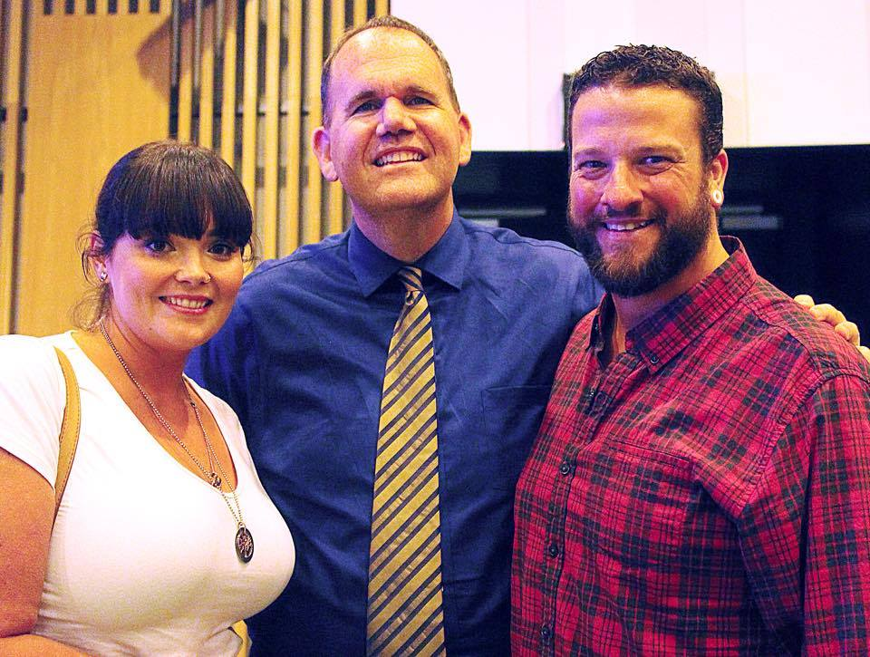 Derek & Telaine with Jimmy Moore at Low Carb Downunder 2014