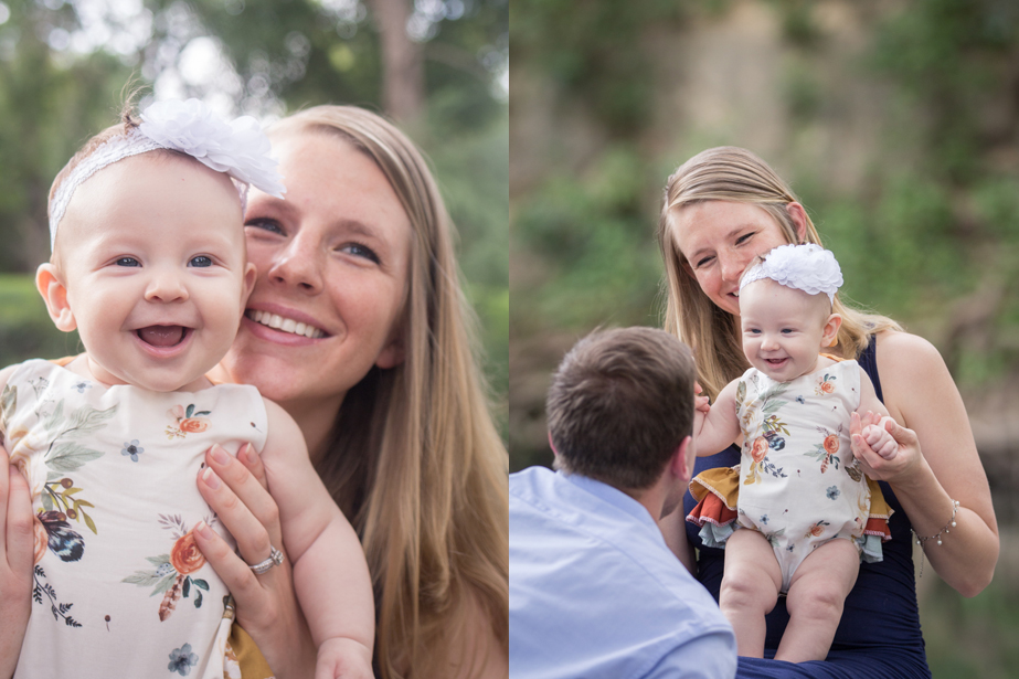 Lisa Evelyn Photography family session with baby in park
