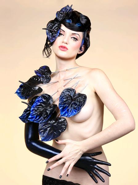 Model: Scar. Art Direction: Mildred Von/Mother of London. Prosthetics: Jenn Rose. Hair: Holly Jones. Makeup: Melanie Manson.