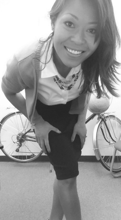 You can ride a bicycle in a pencil skirt to work!
