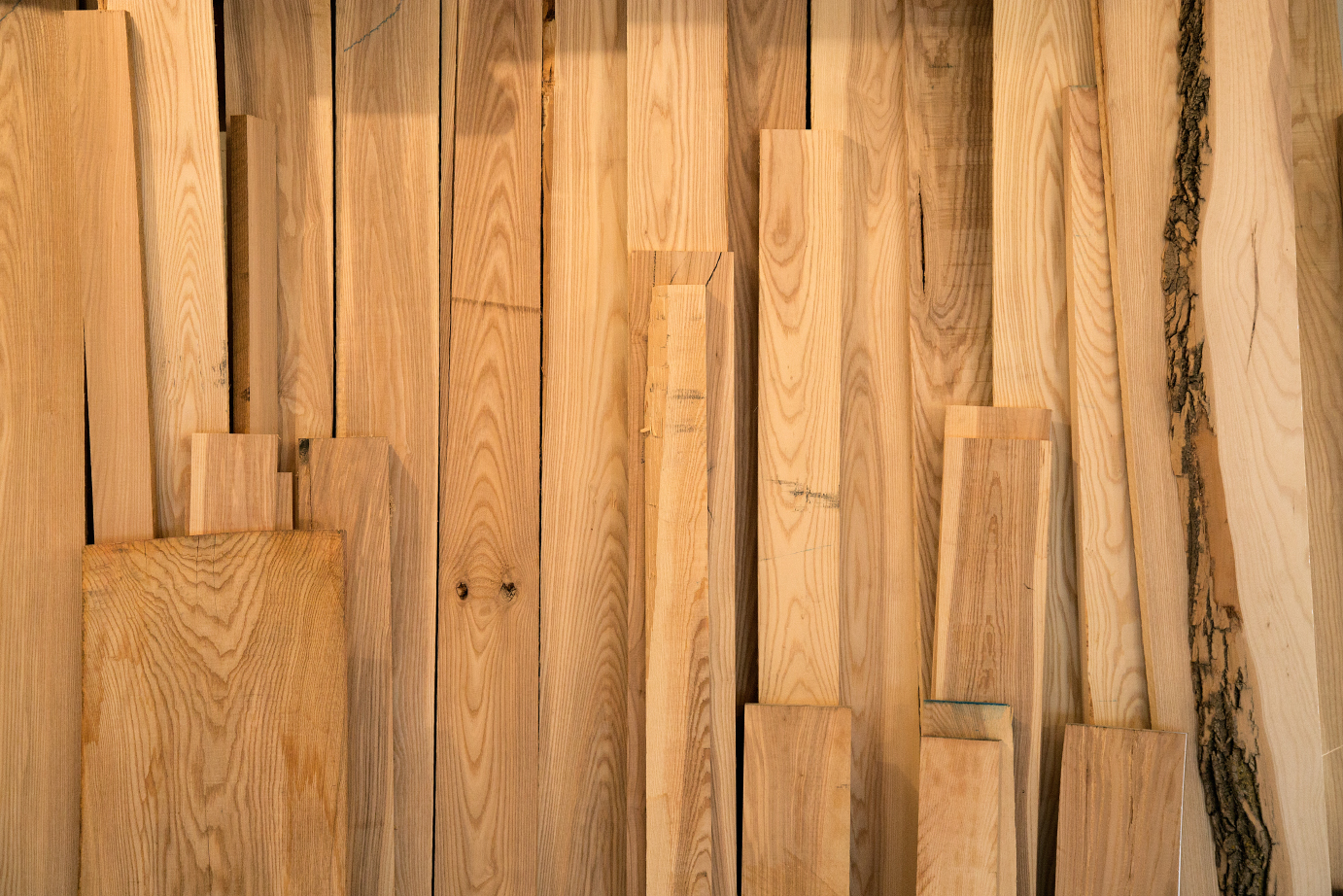 Solid ash wood