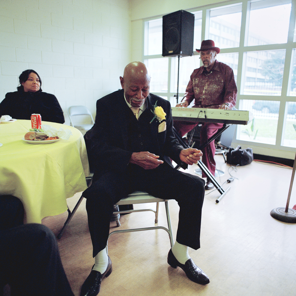 Chuck danced at Mable's memorial, Los Angeles  2013