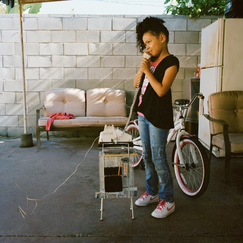 Mia on Chuck's outside phone, Los Angeles  2013