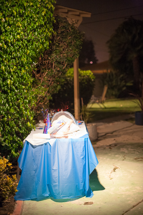 Fourth of July birthday cake, Los Angeles  2014