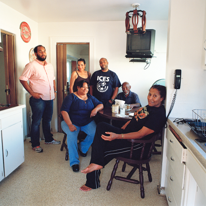 My husband, his mother, brother, grandfather, sister and aunt, the first time we visited his home together,Los Angeles  2013