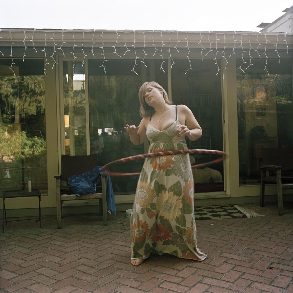 Sarah with homemade hula hoop, Cincinnati, Ohio  2008