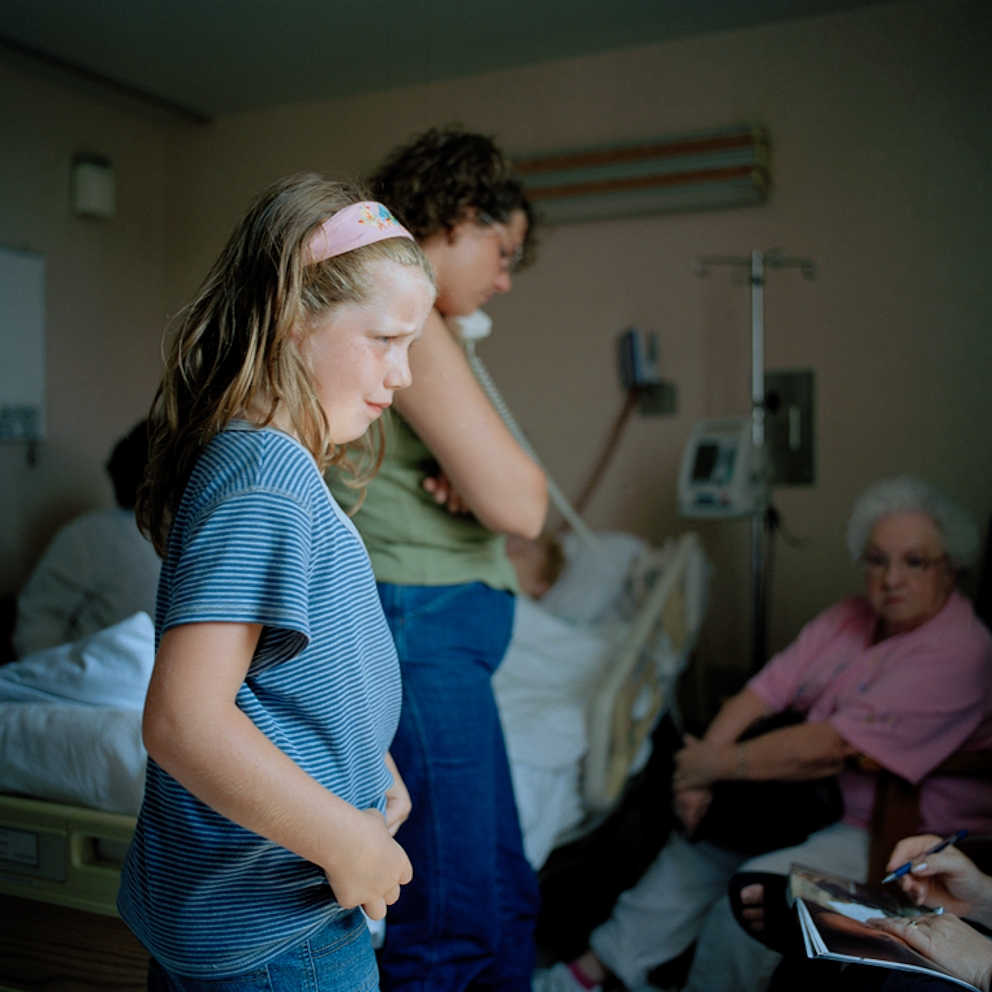 Four generations waiting, Mercy Hospital Mt. Airy, Cincinnati, Ohio  2004
