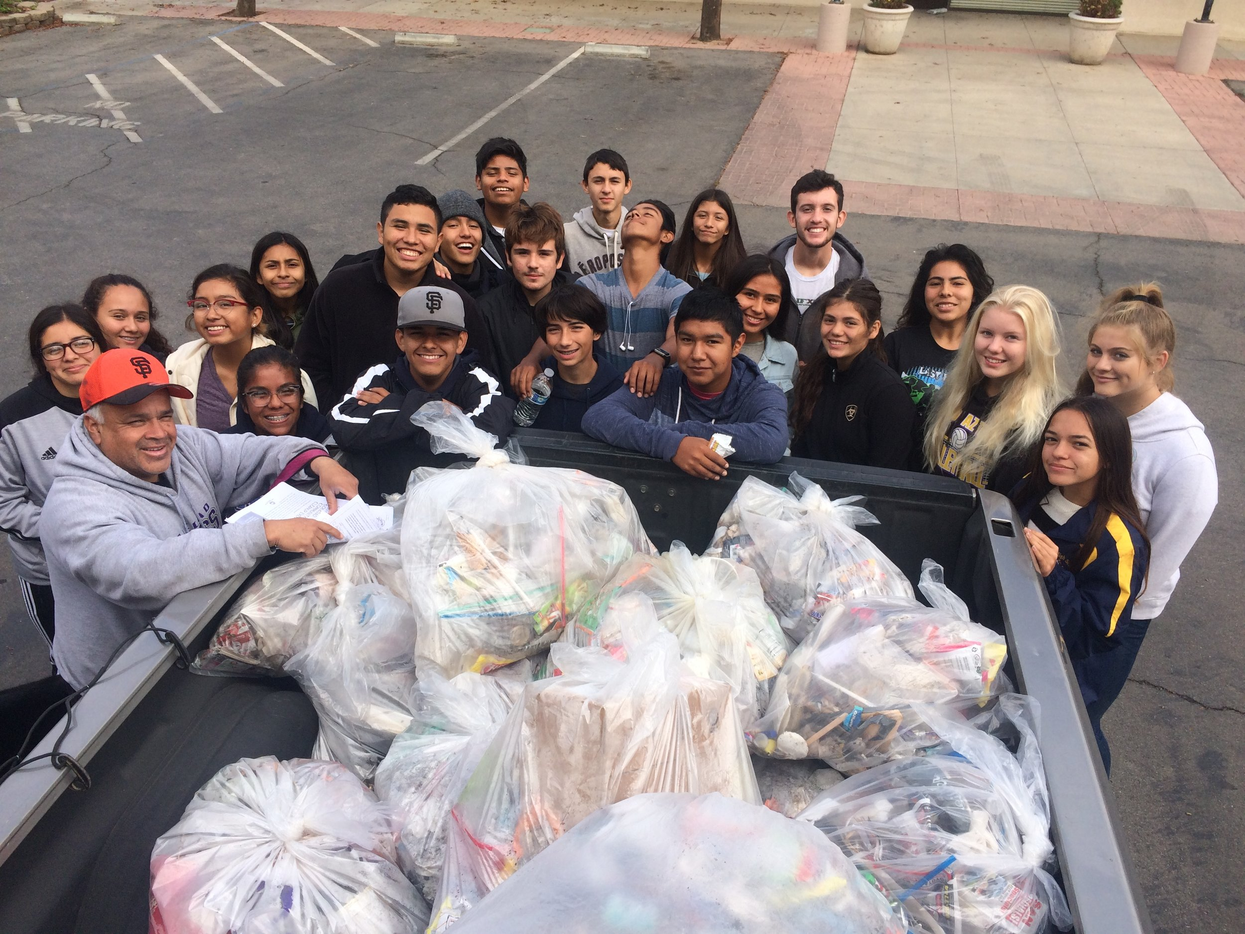 Soledad High School Cross Country team fall litter cleanup (2017)