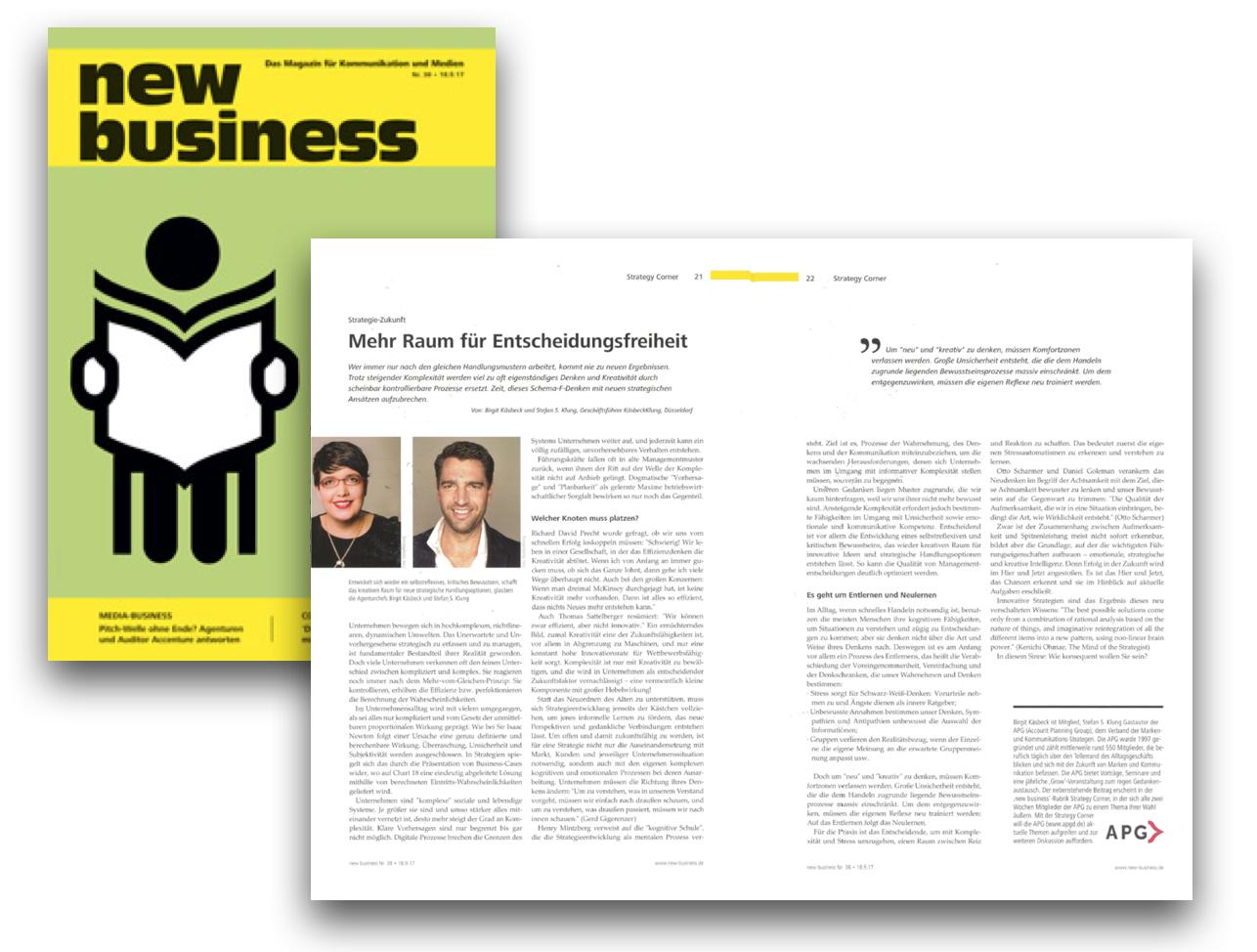 Erschienen: new business Ausgabe 38/2017