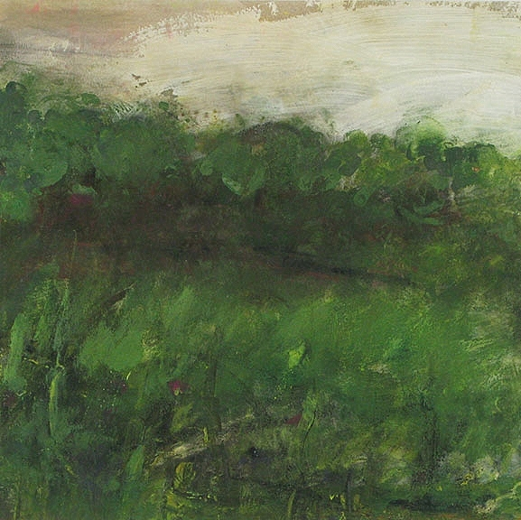 """Livadia Spring, 2013, pastel and acrylic on paper, 15 x 15"""""""