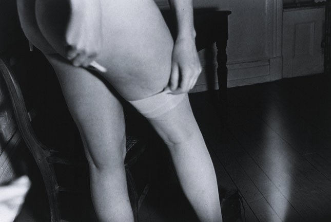 stand facing V, 1985, gelatin silver print, 20 x 24""