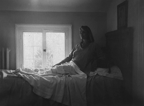 Birth of a Virgin, 1992, gelatin silver print, 36 x 42""