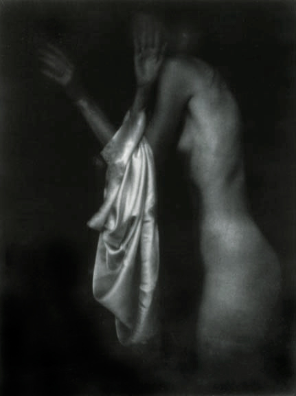 Annunciation/Encounter with an Angel, 1991, gelatin silver print, 46.5 x 40""