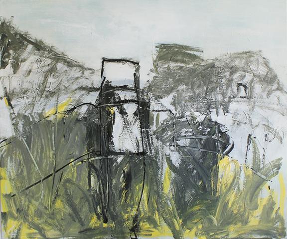 "Open Invitation, 2014, acrylic on canvas, 39 x 47"""