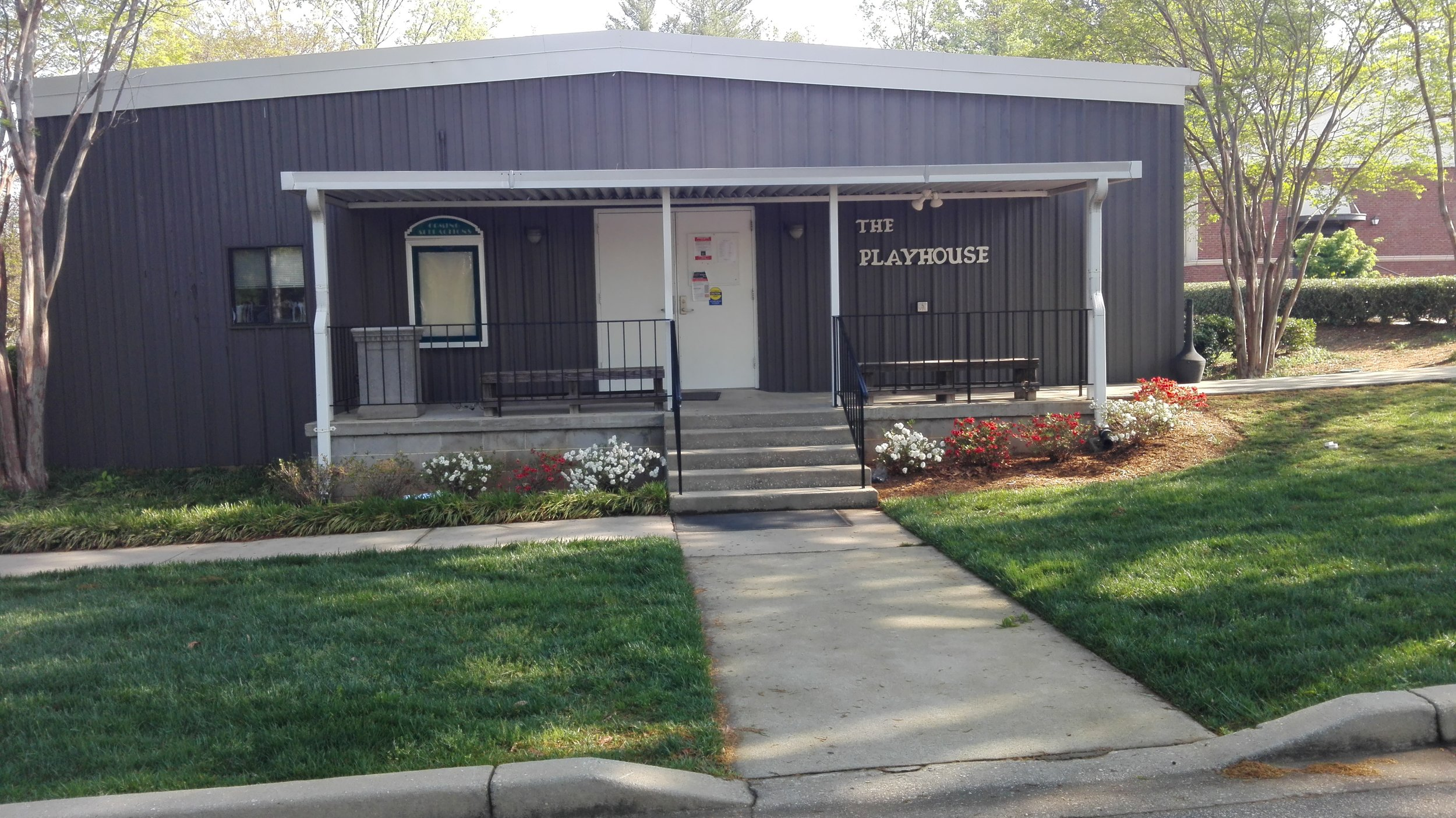 Furman Playhouse, where theatre classes are held and performances take place