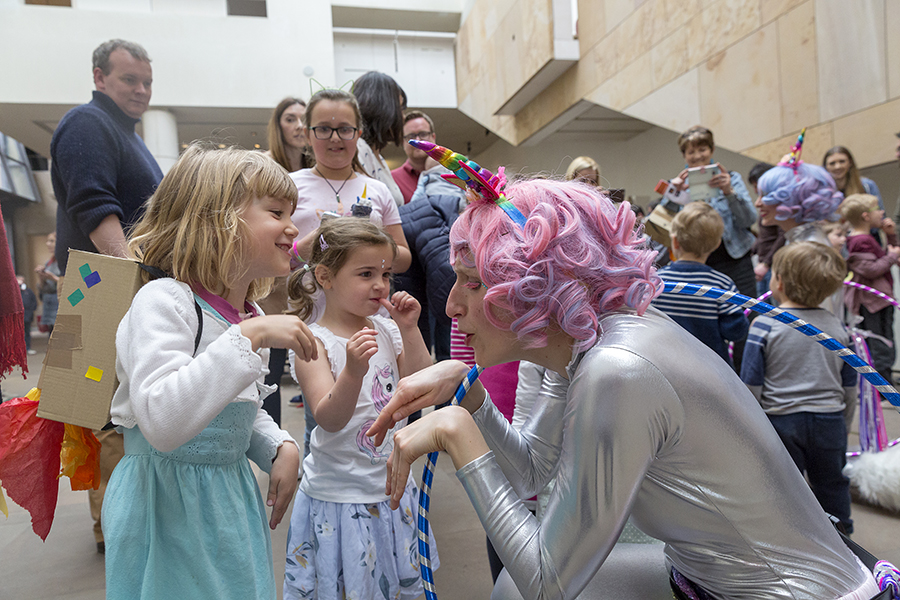 Unicorn Dance Party at Imaginate Festival 2019, National Museum of Scotland in Edinburgh; Photo by Ruth Armstrong