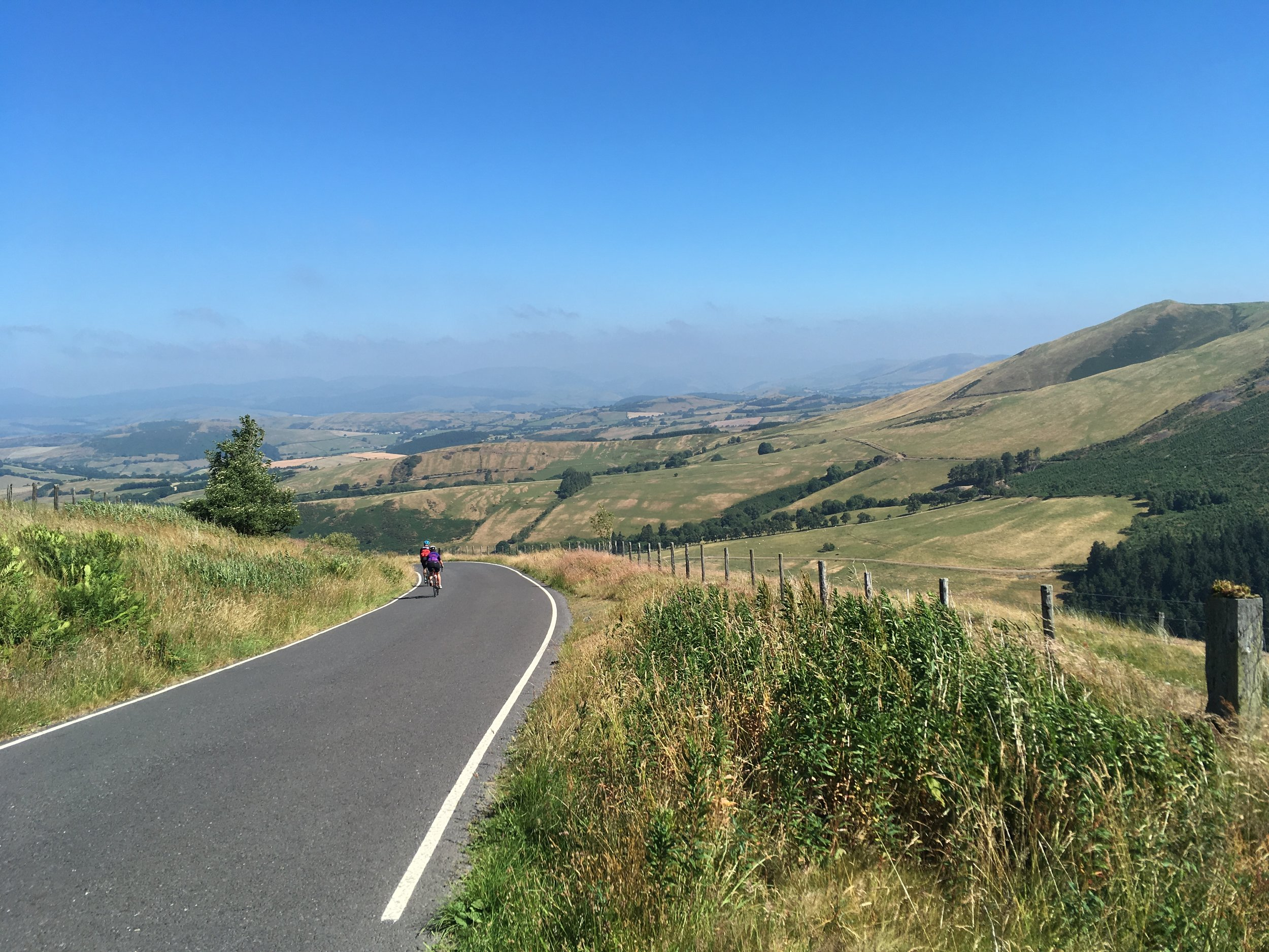 Reached the top and it's all downhill now! The beautiful views of mid-Wales this year.