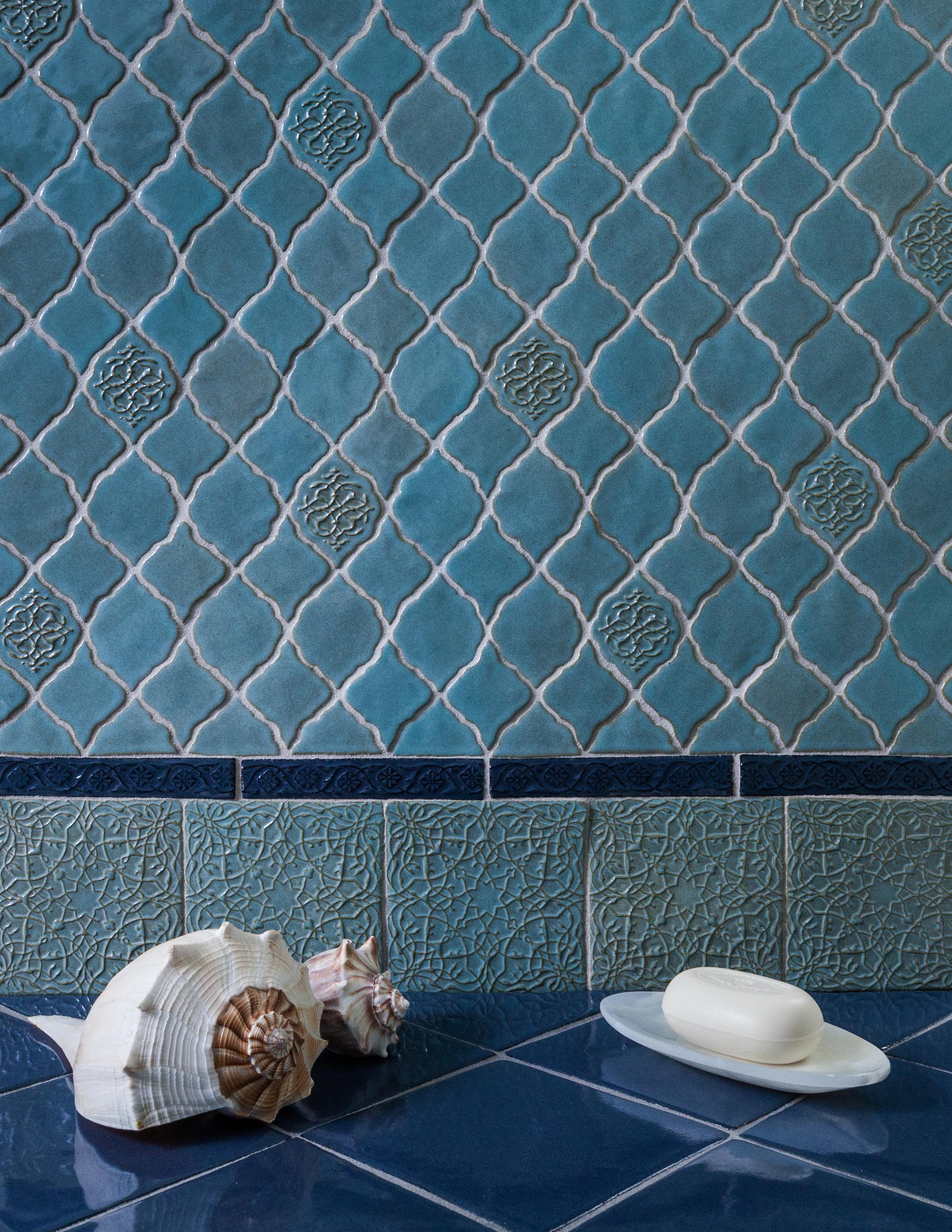 Casablanca and Tangier, Marrakesh Collection, Lilywork Artisan Tile.jpg