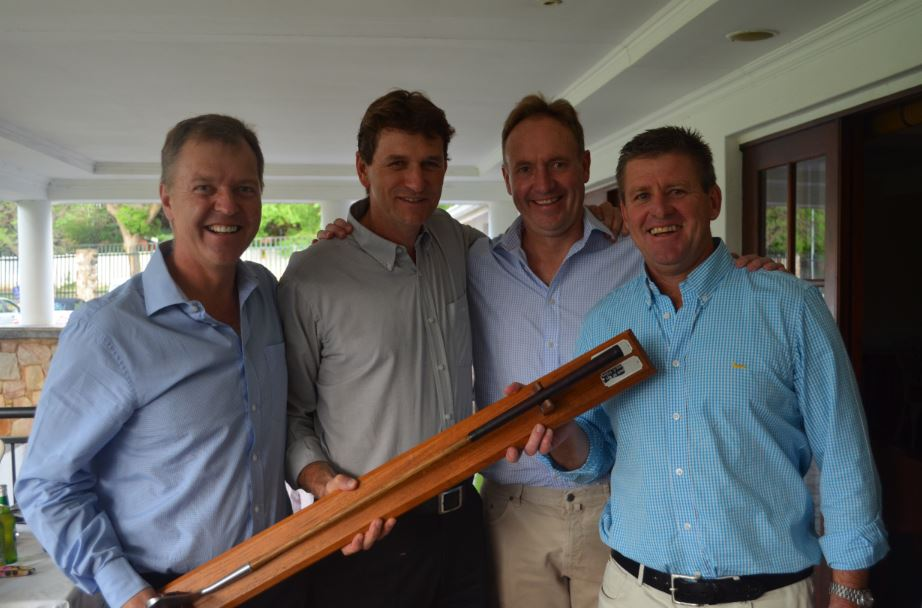 Congratulations to the winning four ball! From left:  James Clucas, Alan Joffe, John Kumleben & Joe Brownlee.