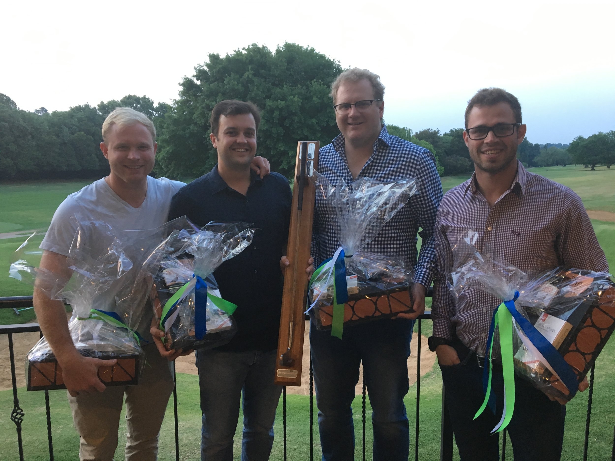 The winning 4-Ball. From left: Ross Cronje, Rhoan Potgieter, Andrew Fawcett & Roscoe Dekker