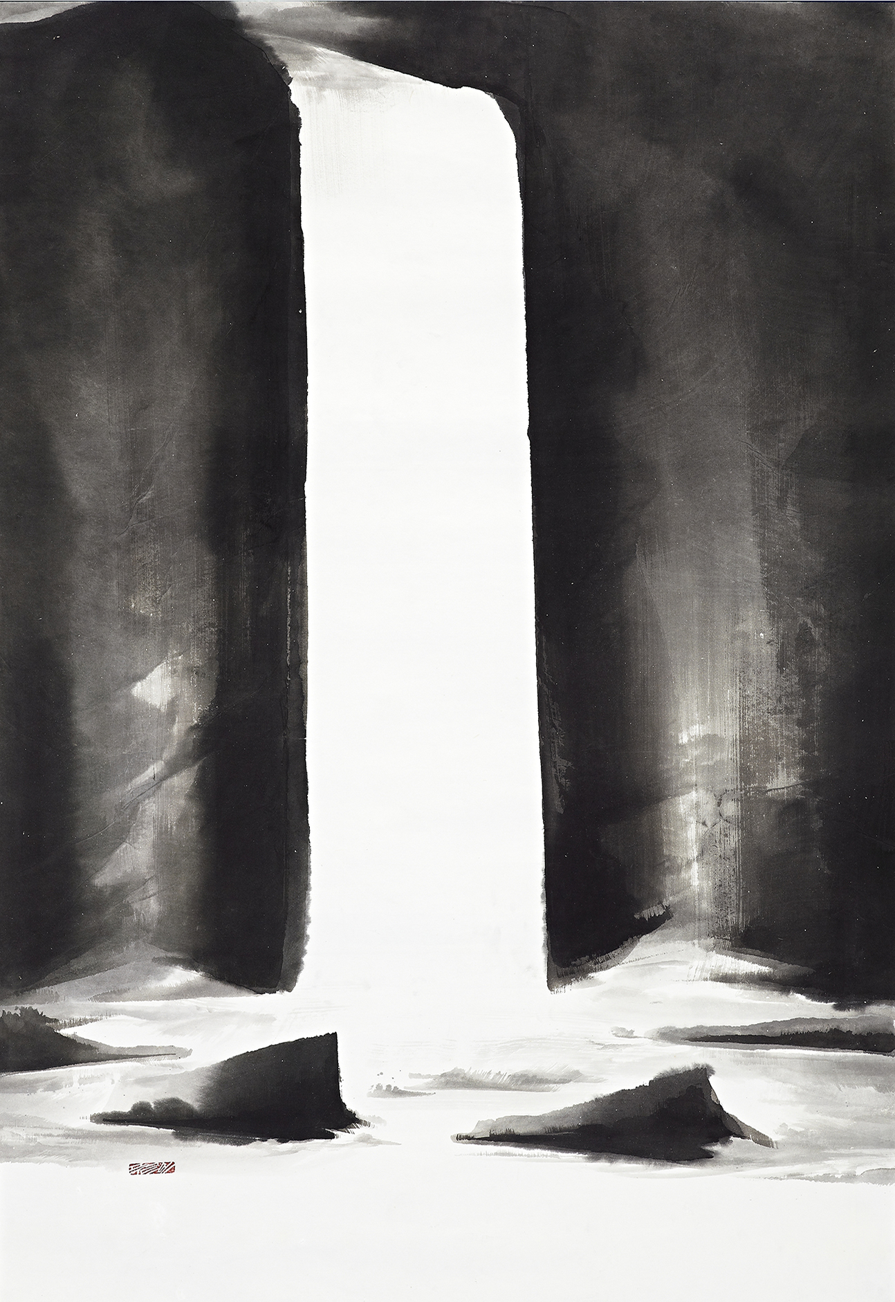 Again in His Light,  210X148cm, Ink on Paper ,2014  上帝之光210X148cm 水墨紙本,2014