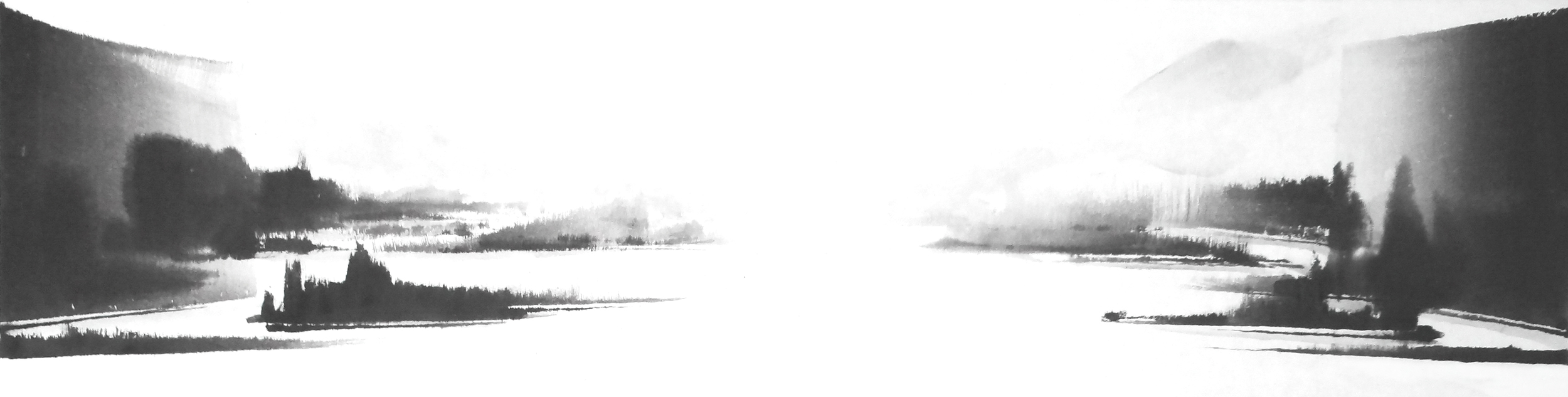 g.그 빛 다시 Again in His Light, 38X140cm, ink on paper, 2012.JPG