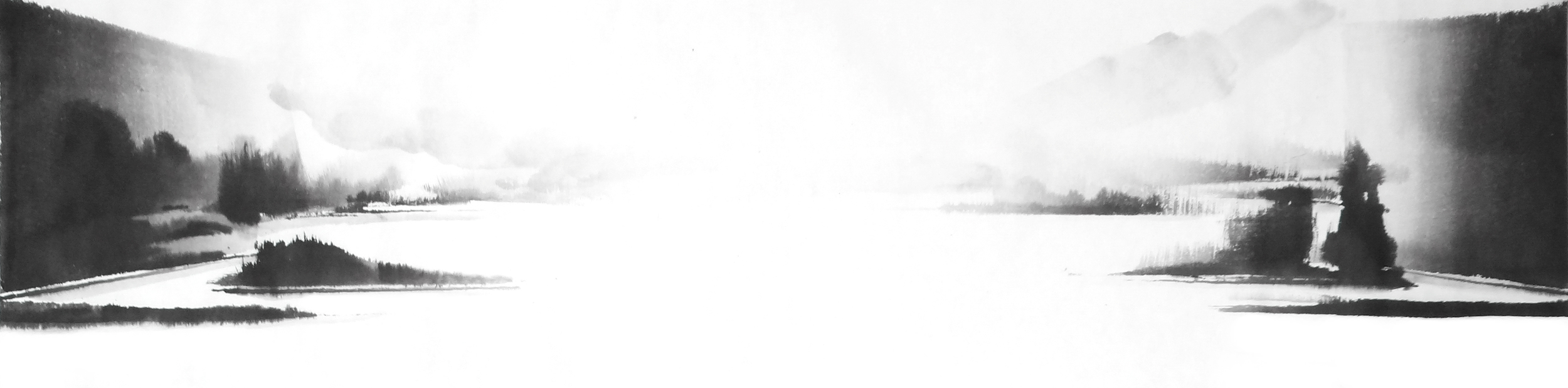 j.빛 다시 Again in His Light, 38X140cm, ink on paper, 2012.JPG