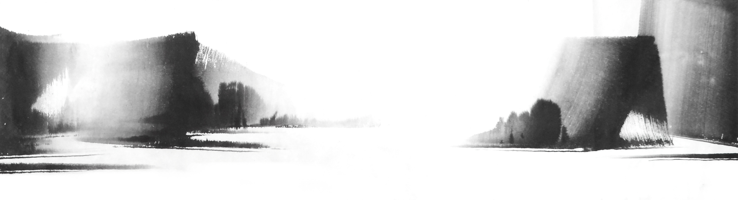 k.빛 다시 Again in His Light, 38X140cm, ink on paper, 2012.JPG