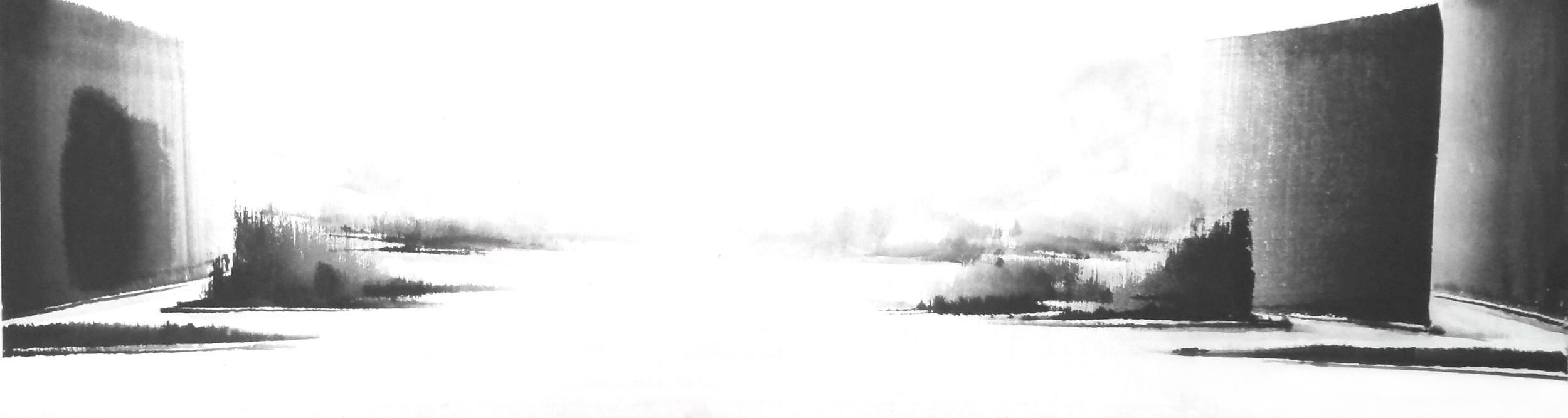z. 빛 다시 Again in His Light, 38X140cm, ink on paper, 2012.JPG