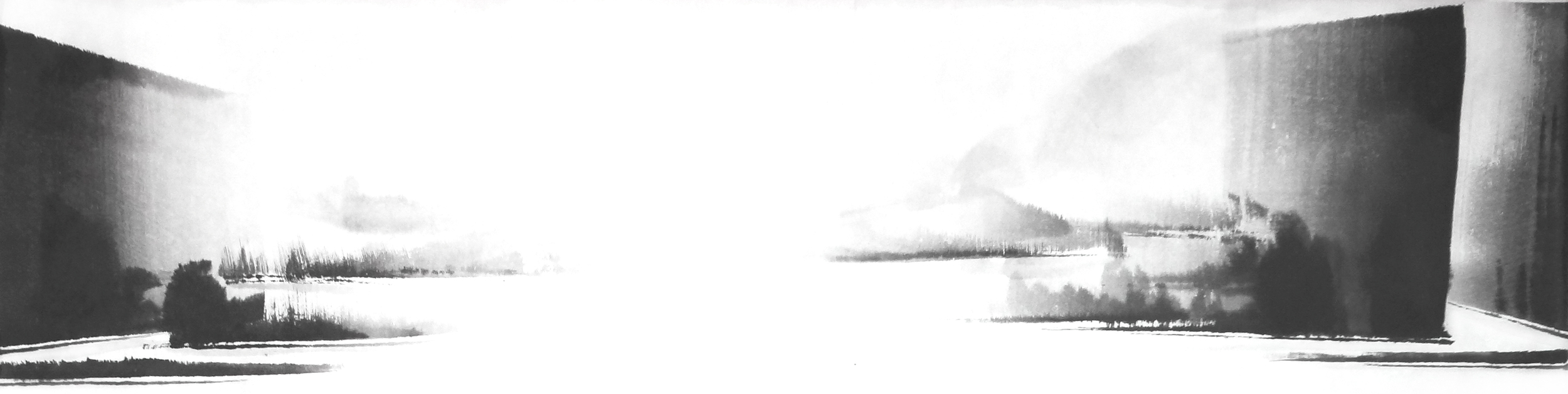 l.빛 다시 Again in His Light, 38X140cm, ink on paper, 2012.JPG