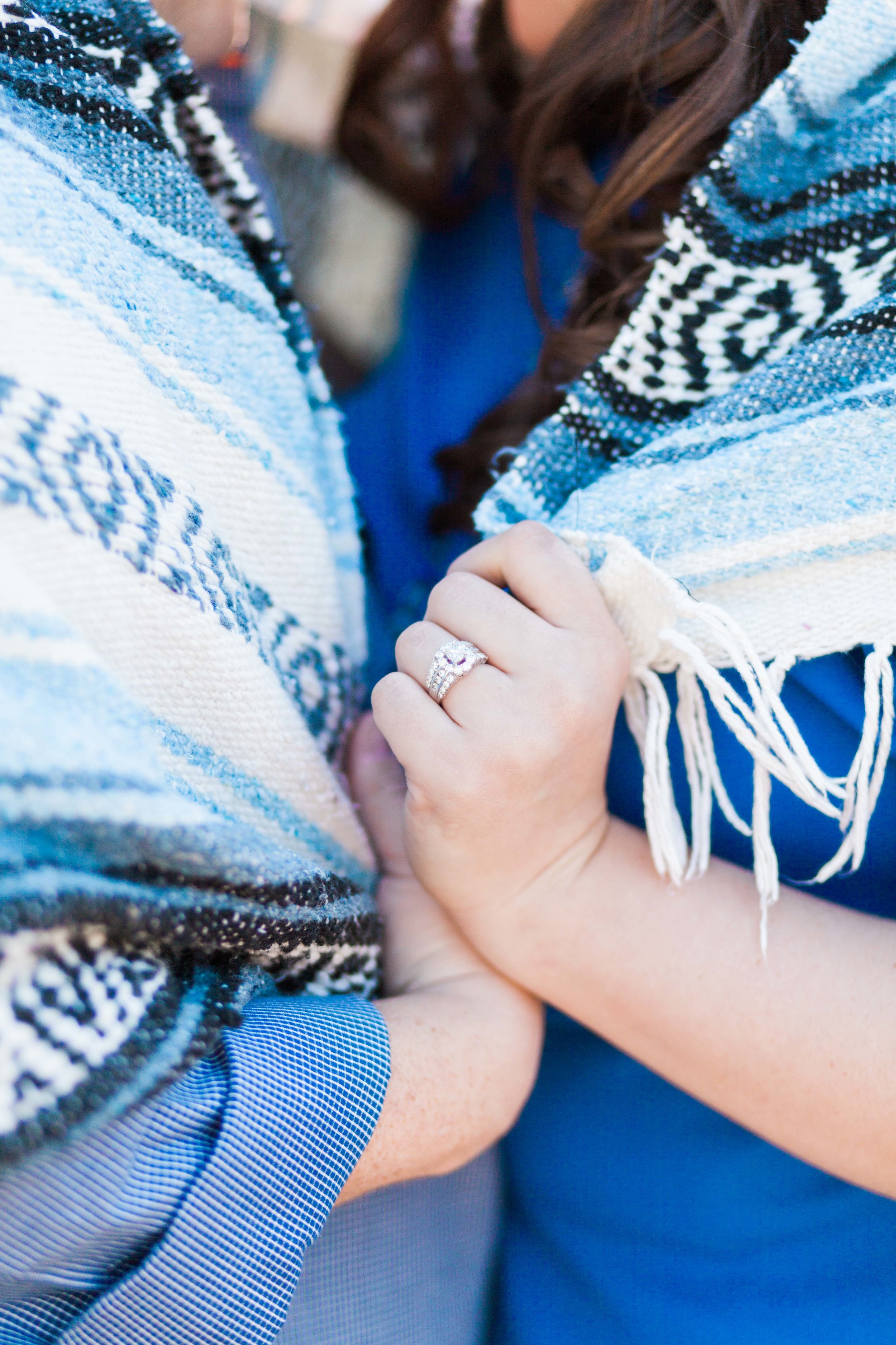 Beautiful Engagement Ring Shot in Orange Grove Engagement Session in Orlando Florida | Michelle Mock Photography