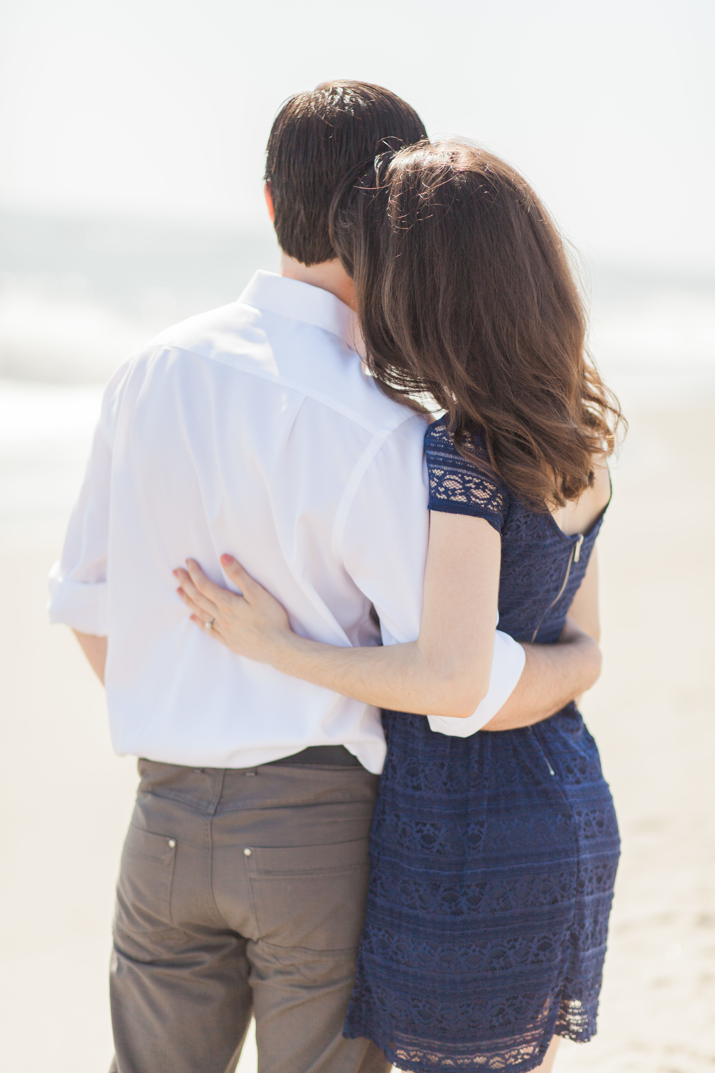 Chanae and Brandon Spessard Holland North Beach Park Engagement Session | Michelle Mock Photography | East Coast Photographer