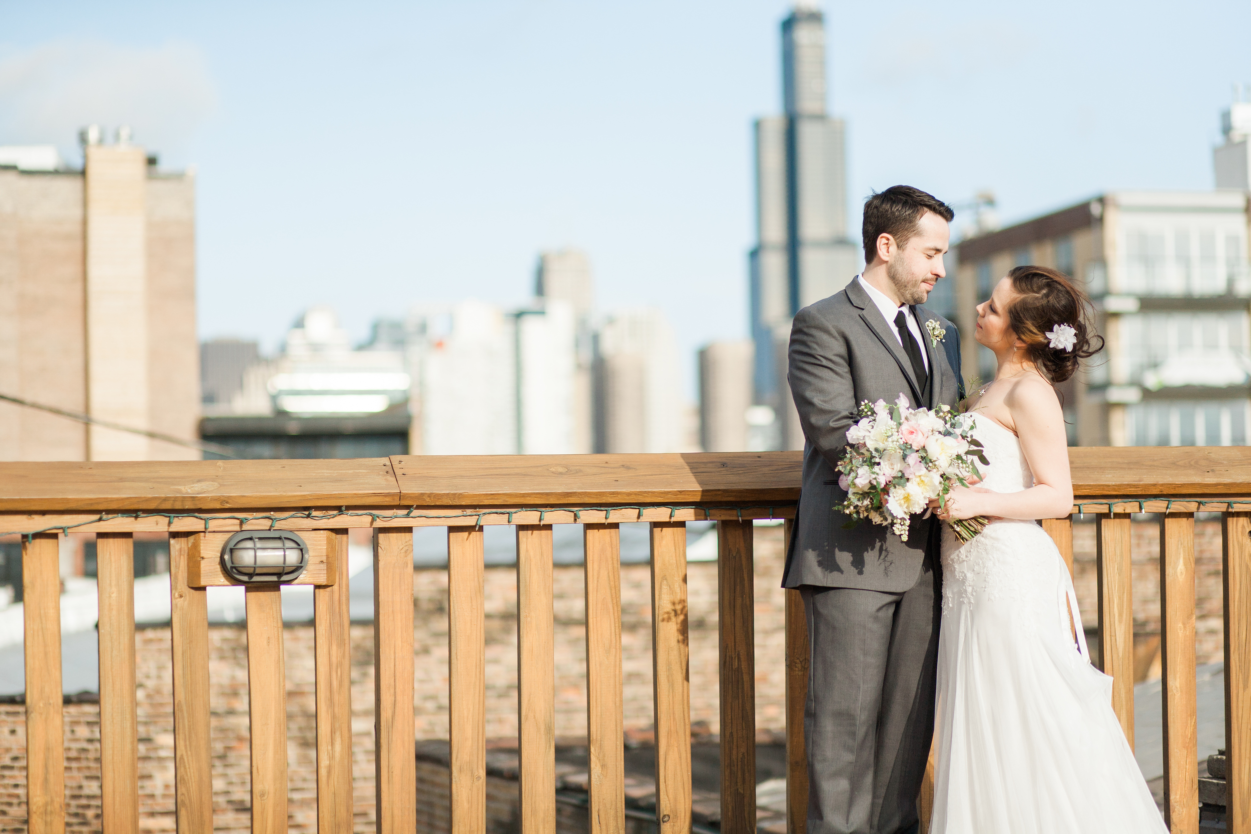 Liana and Michael Neff | Loft on the Lake | Chicago, Illinois | Michelle Mock Photography